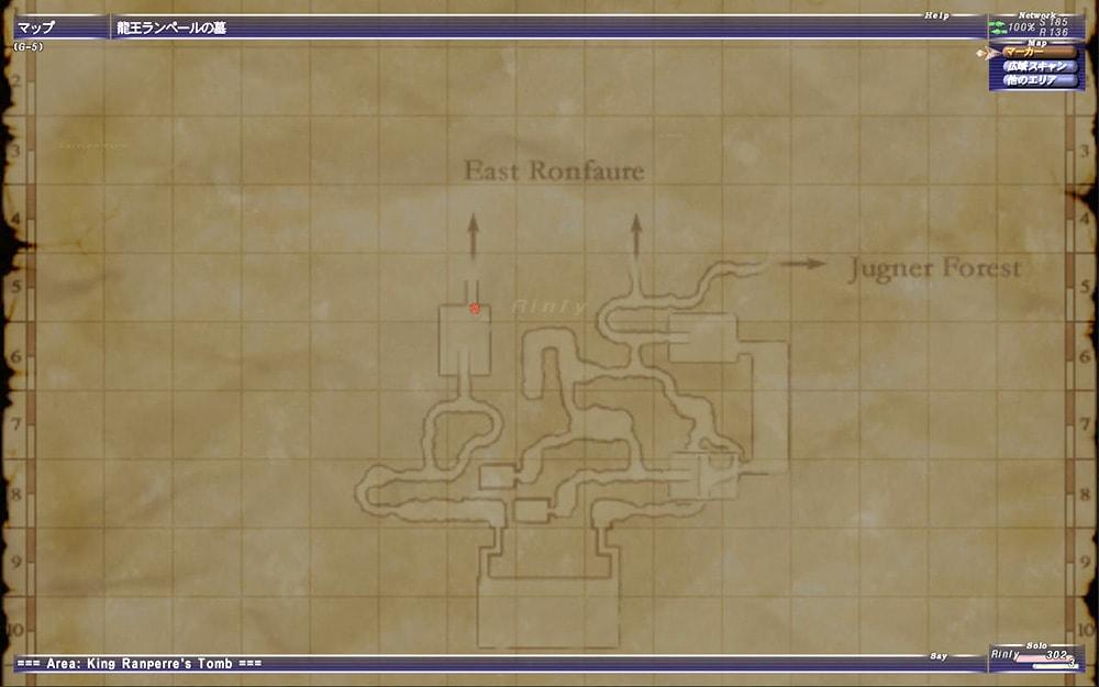 ランペールの墓の地図