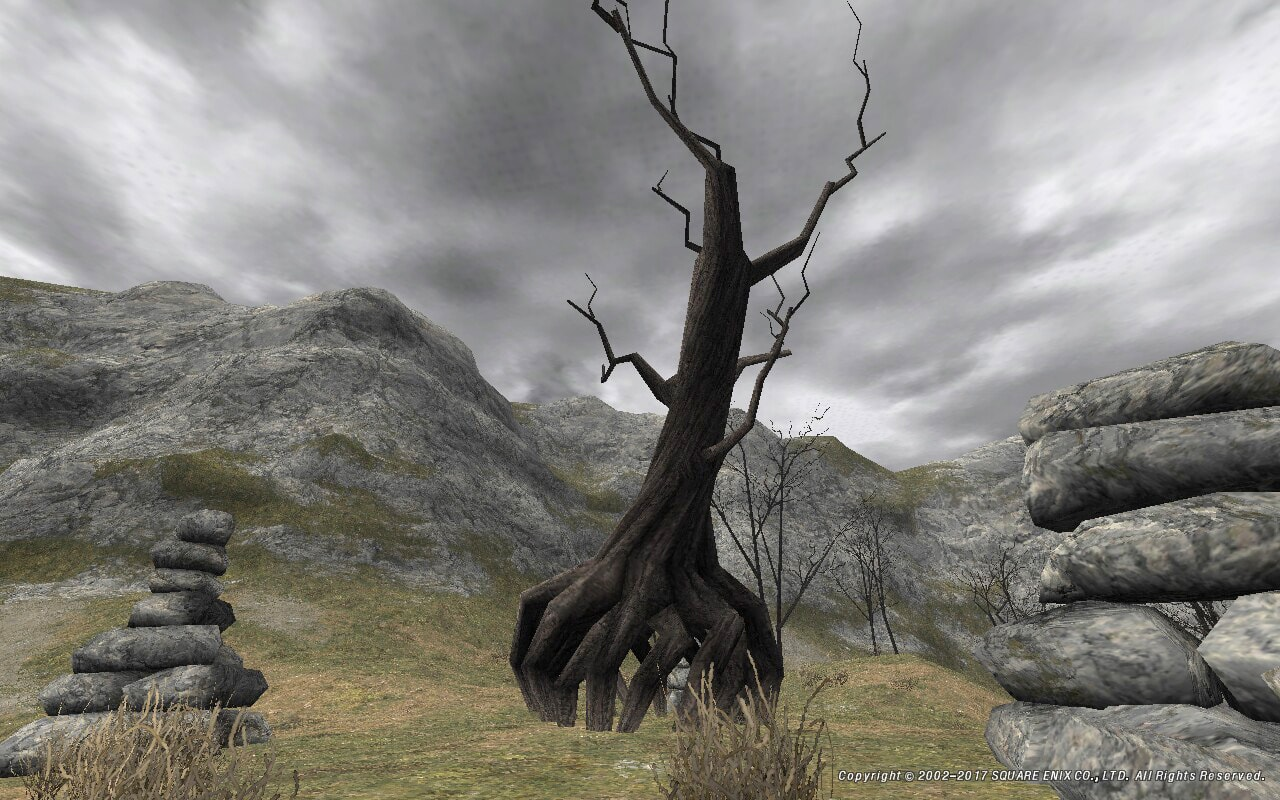 ねじれた木